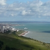 The view back into Eastbourne, with its pier