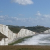 The view back along Seven Sisters with Birling Gap and Belle Tout lighthouse