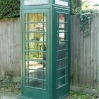 A green phonebox