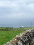 Looking back to the Lighthouse at Black Head, and the last view of the Irish Sea on the walk