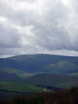 Looking back towards the \'Golf Ball\' radar dome on the top of Lowther Hill (the highest point on the Southern Upland Way) from Beld Knowe