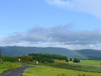 A rainbow over Beattock and Moffat