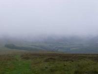 Looking through the mist towards Traquair