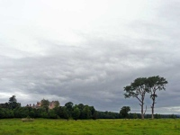 Looking back to Thirlestone Castle in Lauder at the start of day 10