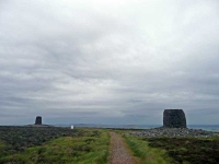 The Twinlaw Cairns and trig point