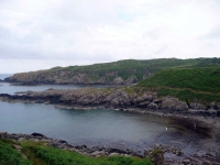 Port Mora and Port Kate from the clifftop path above Portpatrick