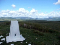 The trig point on top of Glenvernoch fell