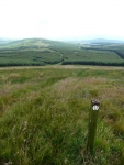 The view back from halfway up Benbrack