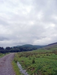Heading out of Moffat Dale on the start of day 7