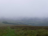 Looking through the mist towards Traquair