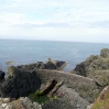 Ruins on the edge of the cliffs at Portpatrick