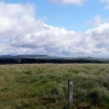 The view ahead at the top of the moorland after leaving New Luce