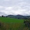 Looking back towards the Eildon Hills