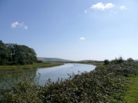 The River Ouse looking south, south of Lewes