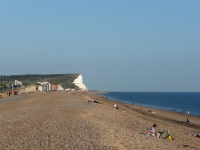 View along the beach at Seaford, looking at Seaford Head