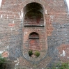 Balcombe Ouse Valley Viaduct, Grade II* listed railway viaduct comprised of 37 arches - looking through the arches