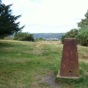 Trig point on Ashdown Forest