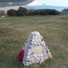 Memorial above Cuckmere Haven