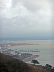 Eastbourne from near the top of Beachy Head - the start of the Wealdway