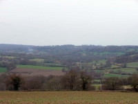 A view back along the Medway River valley, close to its source