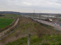 The Channel Tunnel Rail Link, with a Eurostar train