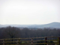 The view back to the South Downs, as the Wealdway starts to rise up onto the Weald