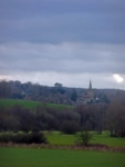 Looking back towards Withyham Church and village