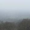 The snow falling near Bidborough