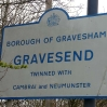 Gravesend, the end of the Wealdway walk, shame about the route into town...